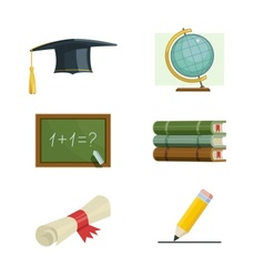 Education set of icons vector image vector image