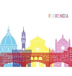 Florence skyline pop vector