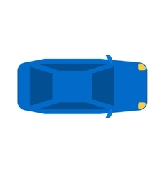 Generic blue car top view vehicle flat automobile vector image