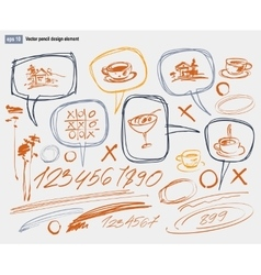 Hand-drawn design elements collection vector image vector image
