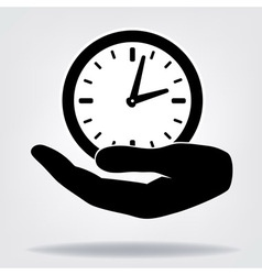 Hand with clock vector image vector image