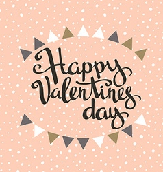 Happy Valentines day Hipster Vintage Stylized vector image vector image
