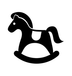 horse wooden isolated icon vector image vector image