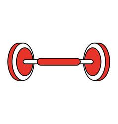 Iron gym weights vector