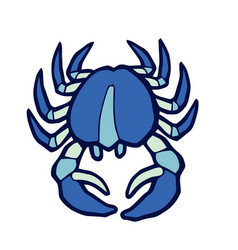 Marine blue crab stylized vector