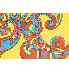 Modern curly art vector image