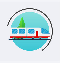 Modern train icon travel concept background vector
