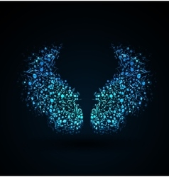Musical notes wings vector