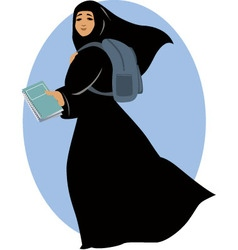 Muslim student vector