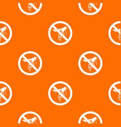 no wasp sign pattern seamless vector image vector image