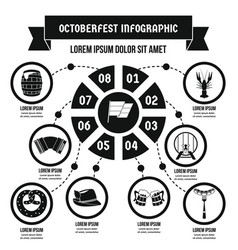 Octoberfest infographic concept simple style vector