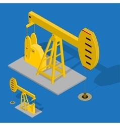Oil Pump Energy Industrial on a Blue Background vector image vector image