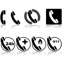 Phone icons vector