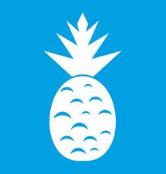 Pineapple icon white vector