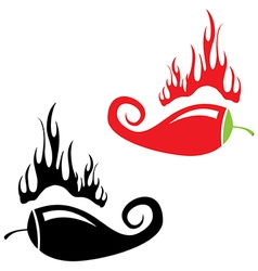 Red hot chili peppers icon vector