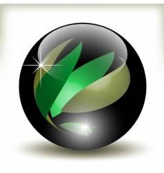 refracting sphere vector image vector image