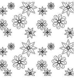seamless pattern flower natural decoration vector image
