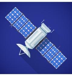 space satellite broadcast antenna vector image