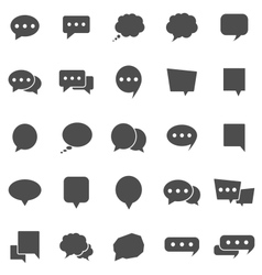 Speech Bubble icons on white background vector image vector image