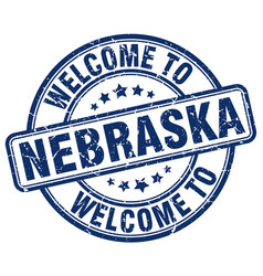 welcome to nebraska vector image vector image