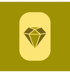 Flat icon on stylish background poker diamond vector