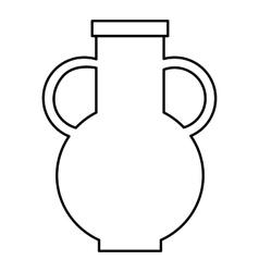 Pitcher icon outline style vector