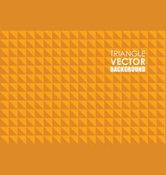 orange triangle background vector image