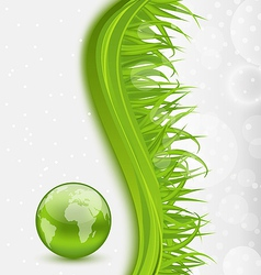 Abstract brochure with global planet and grass vector