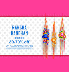 Sale and promotion banner poster with decorative vector