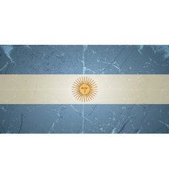 Grunge flags - argentina vector