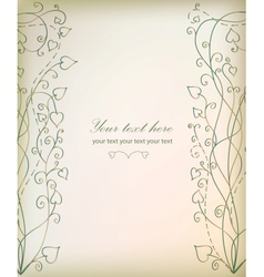 Vintage floral beautiful background vector