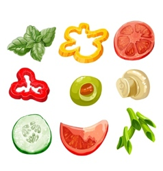 Food ingredients series 2 - bell pepper olive vector