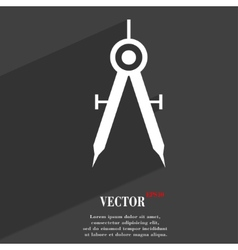 Mathematical compass icon symbol flat modern web vector