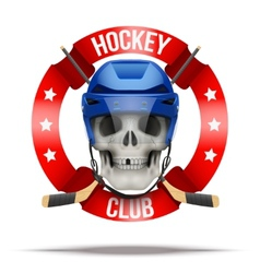 Ice hockkey club or team badges and labels logo vector