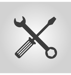The wrench and screwdriver icon settings symbol vector