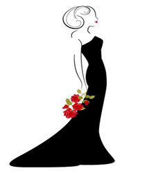Woman in drees vector
