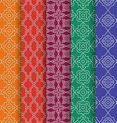 Set of arabic geometric seamless patterns ethnic vector