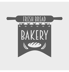 Bakery logo label or badge monochrome concept vector