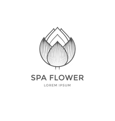 Spa flower logo vector image
