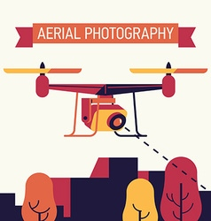 Aerial photography with a drone vector