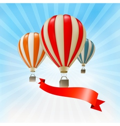 Air balloons background vector image