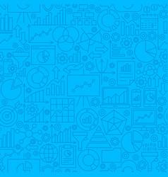 Analytics line tile pattern vector