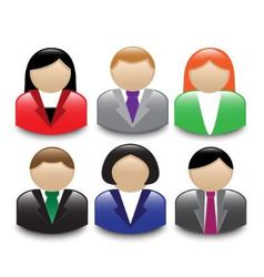 avatars office workers vector image