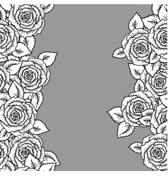 beautiful black and white seamless pattern with vector image