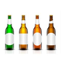 beer bottle set vector image