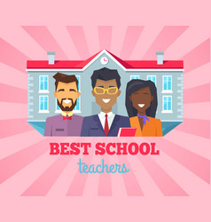 Best school teacher compliment vector