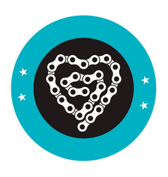 Bicycle chain emblem icon vector