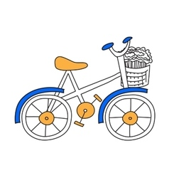 Bicycle flat vector