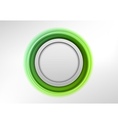 circle green vector image