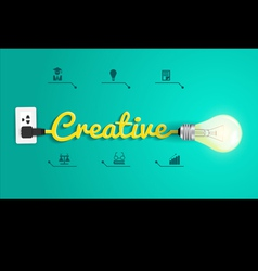 Creative concept modern design template Light bulb vector image vector image